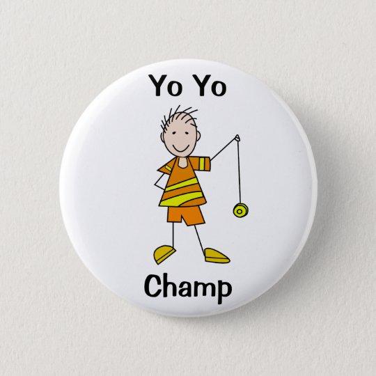 Boy with Yo Yo 6 Cm Round Badge