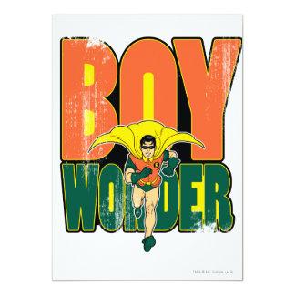 Boy Wonder Graphic 13 Cm X 18 Cm Invitation Card