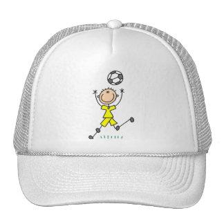 Boy Yellow Soccer Uniform Trucker Hat
