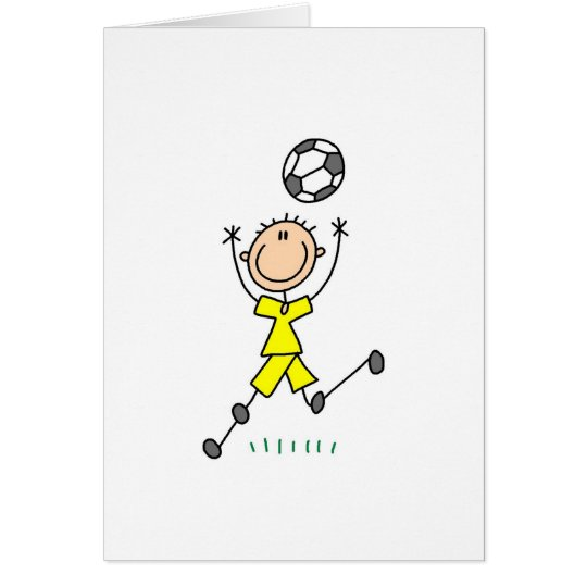 Boy Yellow Soccer Uniform Card