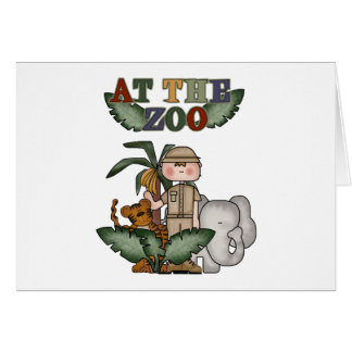 Boy Zoo Keeper Tshirts and Gifts Greeting Card