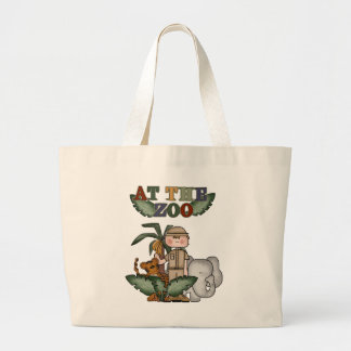 Boy Zoo Keeper Tshirts and Gifts Large Tote Bag