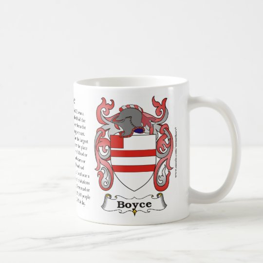 Boyce, Origin, Meaning and the Crest Coffee Mug