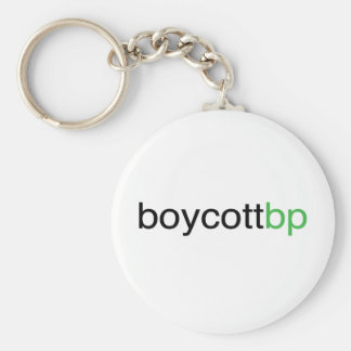 Boycott BP Basic Round Button Key Ring