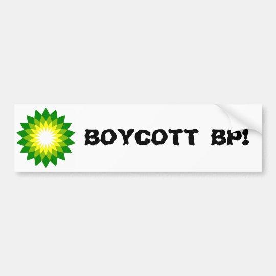 BOYCOTT BP! BUMPER STICKER