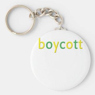 Boycott BP oil spill Basic Round Button Key Ring