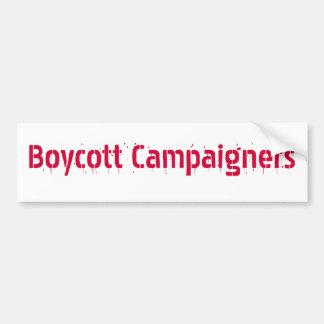 Boycott Campaigners Bumper Sticker