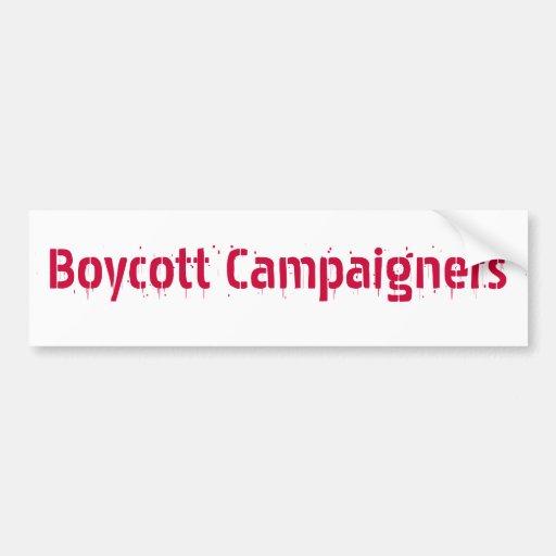 Boycott Campaigners Bumper Stickers