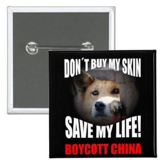 Boycott China 15 Cm Square Badge