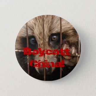 Boycott China! 6 Cm Round Badge