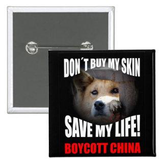 Boycott China 15 Cm Square Badge