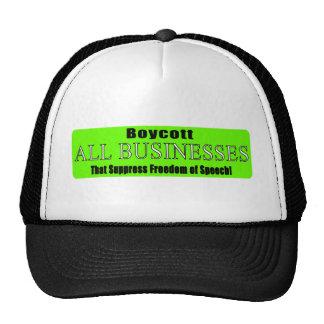 Boycott Companies that Suppress Freedom of Speech Mesh Hats