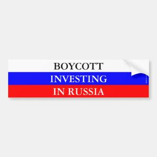 Boycott Investing in Russia Bumper Sticker
