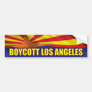 Boycott Los Angeles- Support Arizona Bumper Sticker