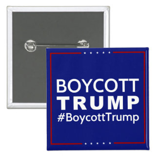Boycott Trump 2 Inch Square Button