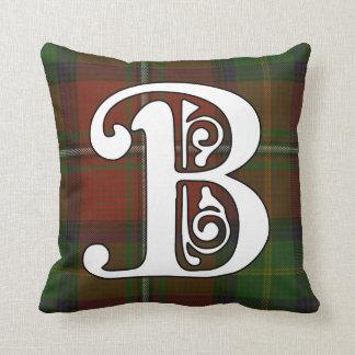 Boyd Clan Tartan Monogram Cushion
