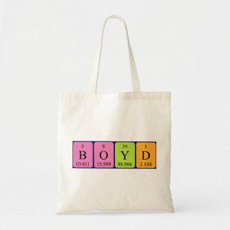 Boyd periodic table name tote bag