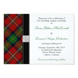 Boyd Tartan Scottish Celtic Wedding Invitation