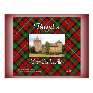 Boyd's Dean Castle Ale Postcard