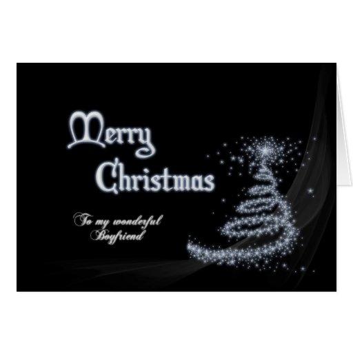 Boyfriend, a Black and white Christmas card