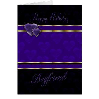 boyfriend birthday card modern design, purple and