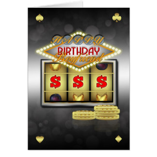 Boyfriend Birthday Greeting Card With Slots And Co