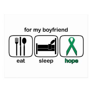 Boyfriend Eat Sleep Hope - Kidney Cancer Postcard