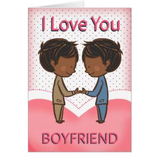 Boyfriend, Gay, Cute Loving African American Coupl Greeting Card