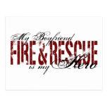 Boyfriend Hero - Fire & Rescue Postcard