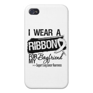 Boyfriend Lung Cancer Ribbon iPhone 4 Covers
