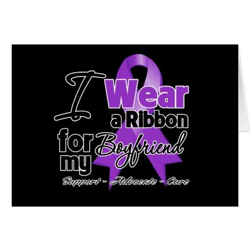 Boyfriend - Pancreatic Cancer Ribbon Greeting Cards