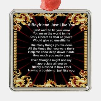 Boyfriend poem - Black design Christmas Ornament