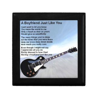 Boyfriend Poem - Guitar Design Gift Box