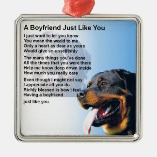Boyfriend Poem - Rottweiler Design Christmas Ornament