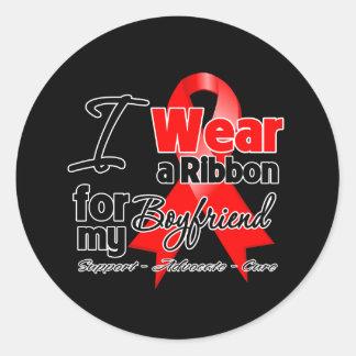 Boyfriend - Red Ribbon Awareness Stickers