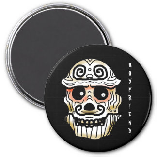 BOYFRIEND SKULL by Slipperywindow 7.5 Cm Round Magnet
