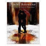 Boyfriend Stylish Holiday Card With Gay Couple