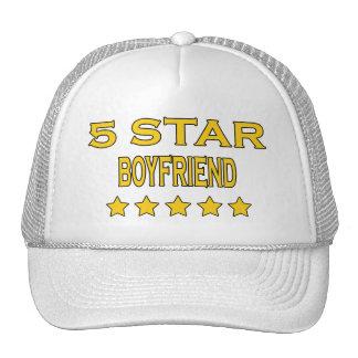 Boyfriends Birthdays Valentines 5 Star Boyfriend Trucker Hats