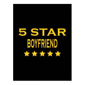 Boyfriends Birthdays Valentines 5 Star Boyfriend Postcard
