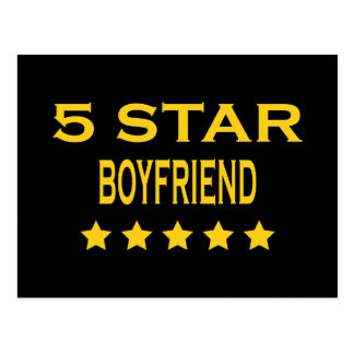 Boyfriends Birthdays Valentines 5 Star Boyfriend Postcard