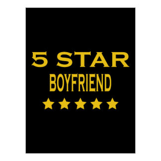 Boyfriends Birthdays Valentines 5 Star Boyfriend Poster
