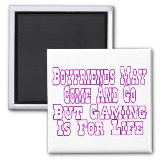 Boyfriends Come And Go Square Magnet