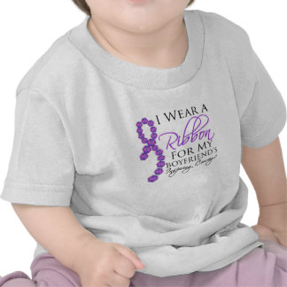 Boyfriend's Inspiring Courage - Pancreatic Cancer T Shirt