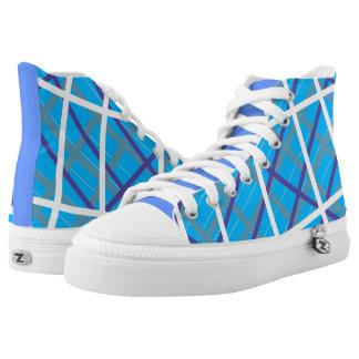 Boyish Blue Candy-striped Hightops
