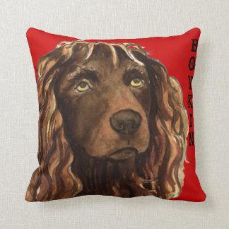Boykin Spaniel Color Block Throw Pillow