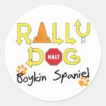 Boykin Spaniel Rally Dog Round Sticker