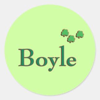 Boyle Family Round Sticker