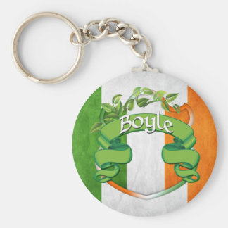 Boyle Irish Shield Basic Round Button Key Ring