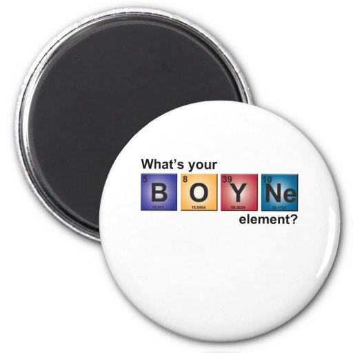 Boyne_elements 6 Cm Round Magnet
