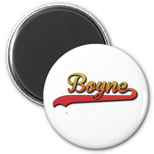 Boyne_sport_script Refrigerator Magnet